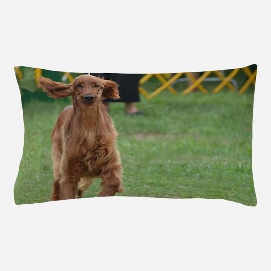 Playful Irish Setter Dog Pillow Case
