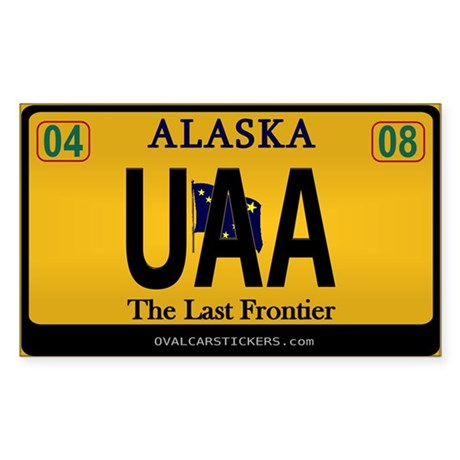 Alaska License Plate Sticker - UAA