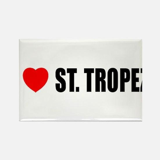 I Love St. Tropez, France Rectangle Magnet (10 pac