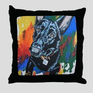 Grafitti German Shepherd Throw Pillow
