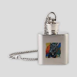 Grafitti German Shepherd Flask Necklace