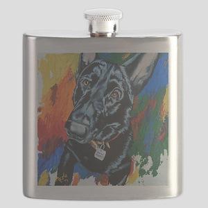 Grafitti German Shepherd Flask