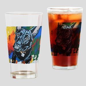 Grafitti German Shepherd Drinking Glass