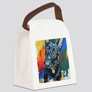 Grafitti German Shepherd Canvas Lunch Bag
