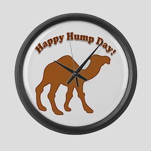 Hump day! Happy Hump day! Large Wall Clock