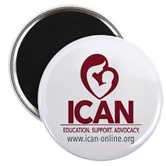 ICAN logo box Magnets