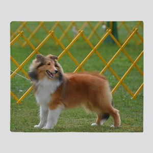 Cute Shetland Sheepdog Throw Blanket