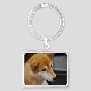 Shiba Inu Dog Landscape Keychain