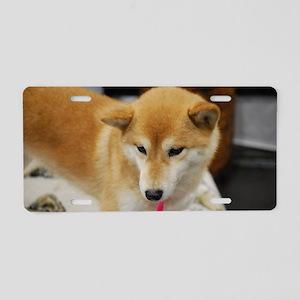 Cute Japanese Shiba Inu Aluminum License Plate