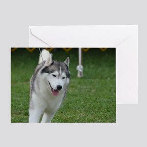 Cute Siberian Husky Dog Greeting Card