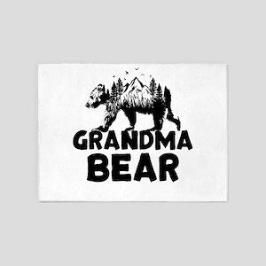 Grandma Bear Woods 5'x7'Area Rug