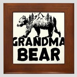 Grandma Bear Woods Framed Tile