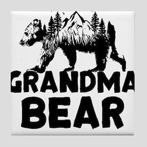 Grandma Bear Woods Tile Coaster