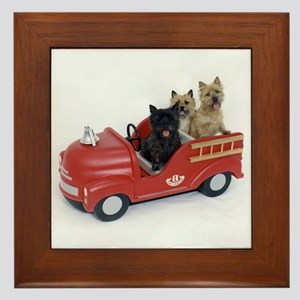 CairnTerrier Fire Crew Framed Tile