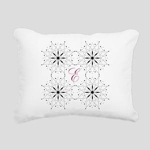 Monogram Snowflake Quilt Pattern Rectangular Canva