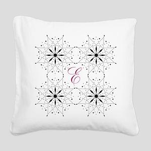 Monogram Snowflake Quilt Pattern Square Canvas Pil