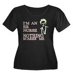 ER Nurse Women's Plus Size Scoop Neck Dark T-Shirt