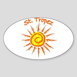 St. Tropez, France Oval Sticker