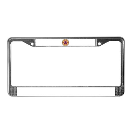 Tie-dye Peace sign License Plate Frame