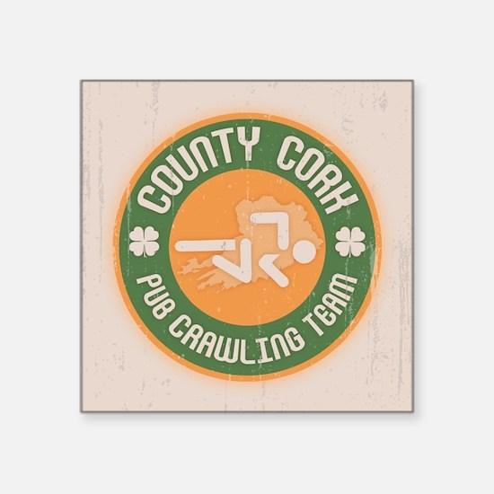 "Cork Crawling Team Square Sticker 3"" x 3"""