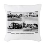 The Four Corners Of Deerfield Woven Throw Pillow