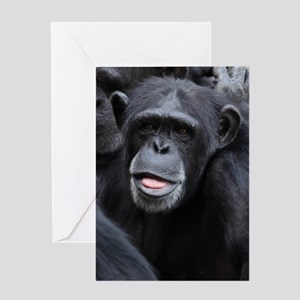 Black Monkey Greeting Card