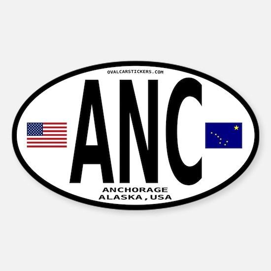 Alaska Euro Oval Sticker - ANC