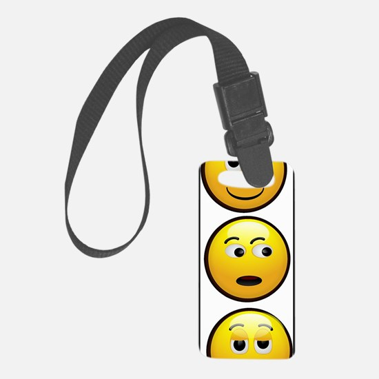 Yellow Smiley Luggage Tag