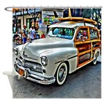 Vintage Woody Station Wagon Shower Curtain