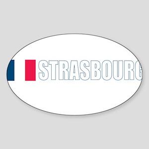 Strasbourg, France Oval Sticker