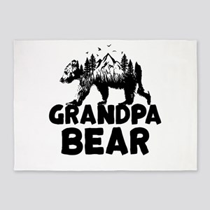 Grandpa Bear Woods 5'x7'Area Rug