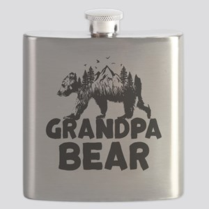 Grandpa Bear Woods Flask
