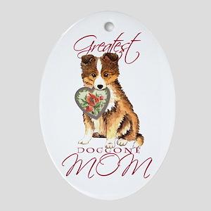 Sheltie Mom Oval Ornament