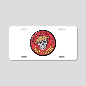 Sat-Cong Kill Communists Aluminum License Plate