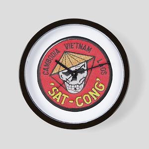 Sat-Cong Kill Communists Wall Clock