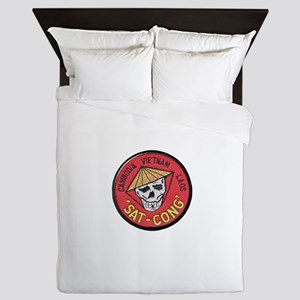 Sat-Cong Kill Communists Queen Duvet