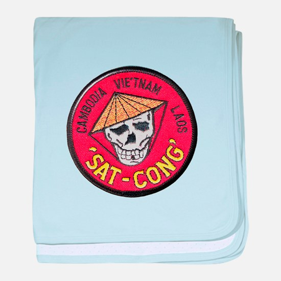 Sat-Cong Kill Communists baby blanket
