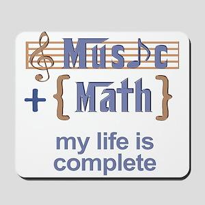 music and math Mousepad