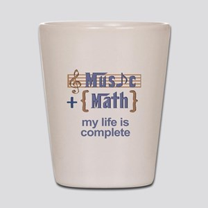 music and math Shot Glass