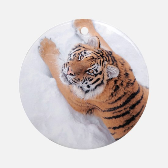Snow Tiger Ornament (Round)