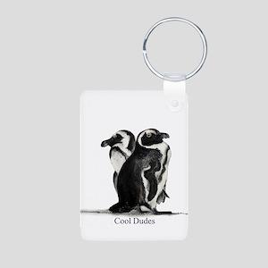 Cool Penguins Aluminum Photo Keychain