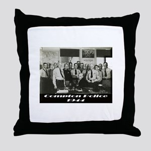 Compton Police 1944 Throw Pillow