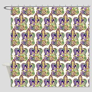 Mardi Gras Tiger Fleur De Lis Shower Curtain