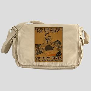 Vintage war effort rowing Messenger Bag