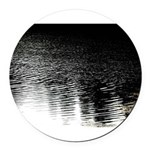 Moonlight sparkle Round Car Magnet