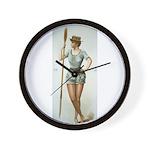 Vintage woman rower Wall Clock
