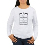 Vintage - How to Row Women's Long Sleeve T-Shirt