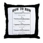 Vintage - How to Row Throw Pillow