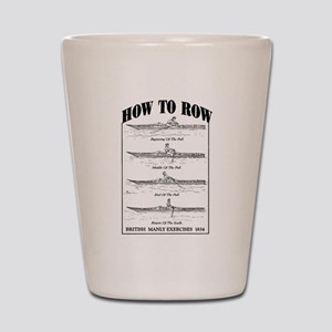 Vintage - How to Row Shot Glass