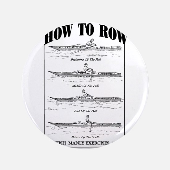 """Vintage - How to Row 3.5"""" Button"""